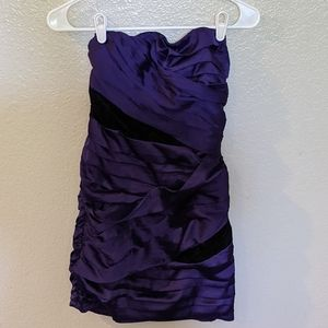 Express Strapless Formal Dress